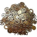 ASVP Shop® Steampunk Cyberpunk Montre Vintage Pièces Gears Roues pignons Bijoux Craft Arts, Gold/Silver, Copper 100g