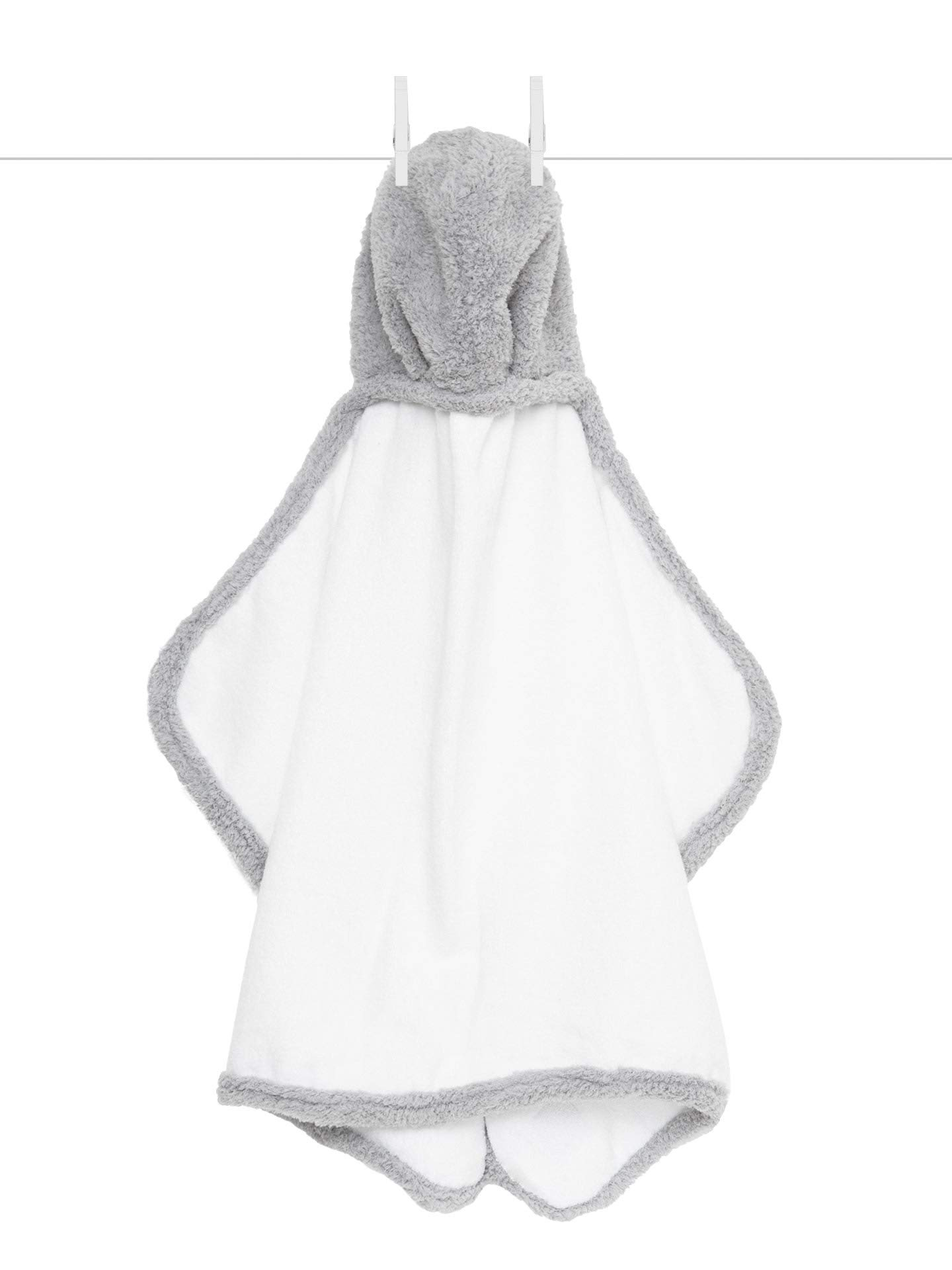 Little Giraffe Chenille Towel, Silver, 23 Inch x 41 Inch by Little Giraffe