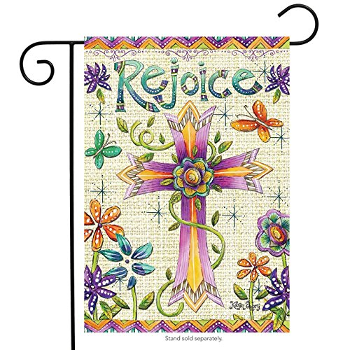 Briarwood Lane Rejoice Easter Garden Flag Religious Holiday