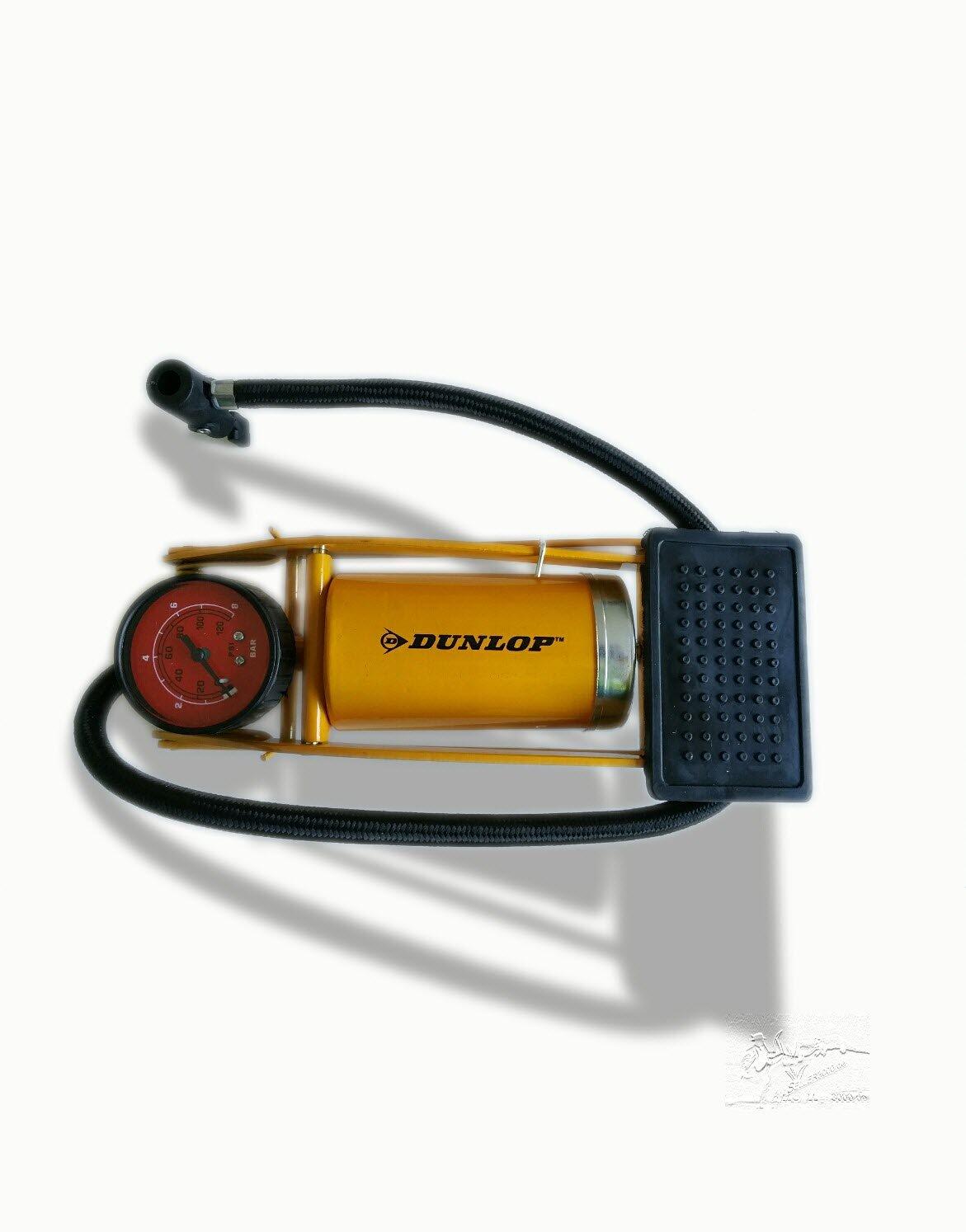 pompa da bicicletta e auto Dunlop pompa a pedale pompa ad aria pompa a pedale con manometro