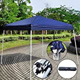 Z ZTDM Easy Pop-Up Instant Event Canopy Gazebo Party Tent Folding Portable Shelter Slant Leg-8.2′ x 8.2′ Blue with Carrying Bag For Sale