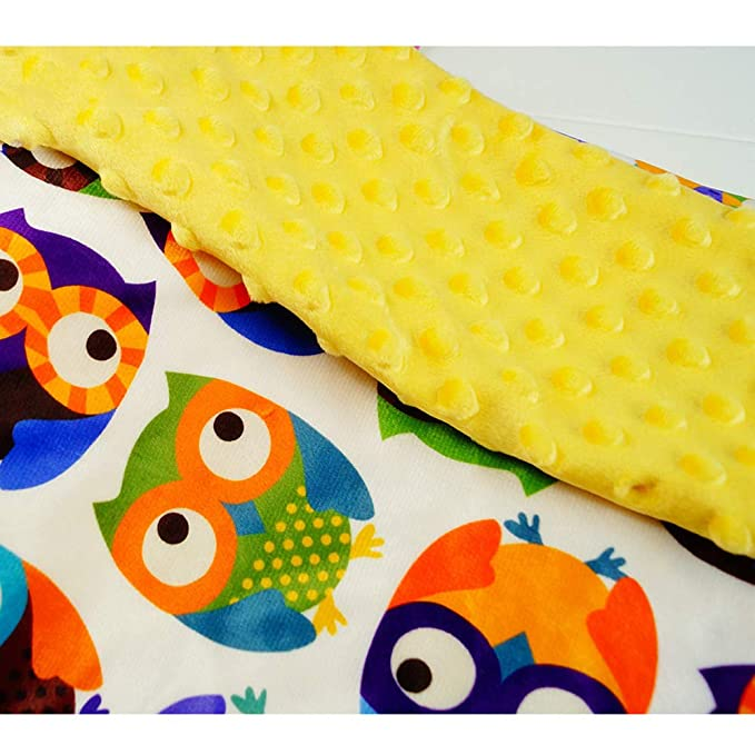 Deluxe Baby Blankets Yellow Super Soft Minky with Double Layer Backing Newborns Infant Blanket Best for Stroller Best Gift 47x29.5 Crib