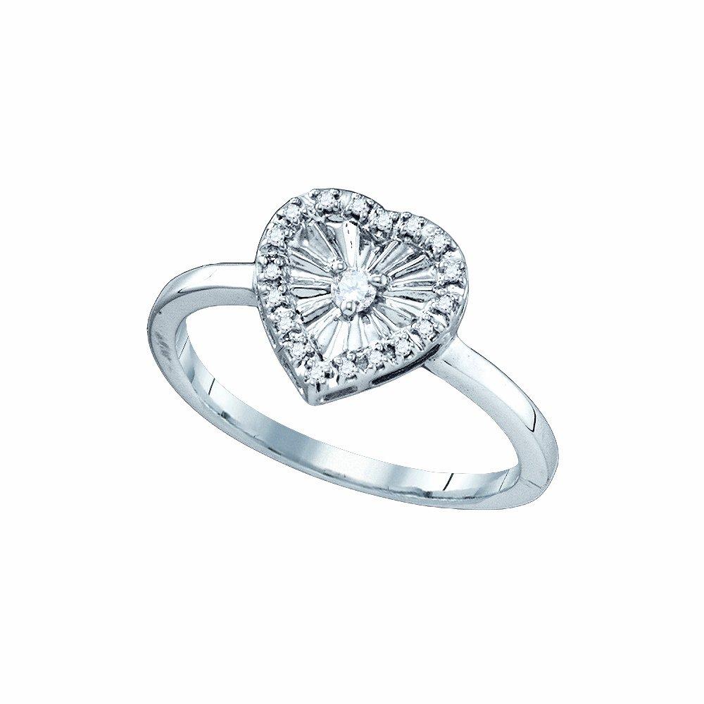 0.10CTW DIAMOND HEART RING