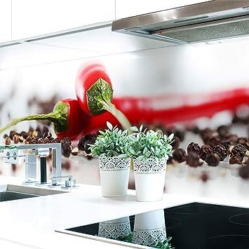 Kuchenruckwand Chilli Pfeffer Premium Hart Pvc 0 4 Mm Selbstklebend