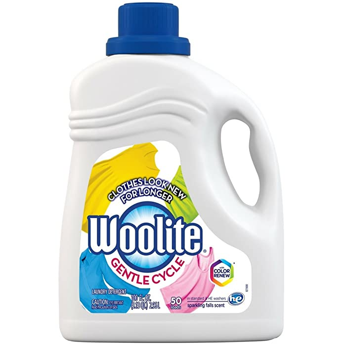 Woolite Clean & Care Liquid Laundry Detergent, 66 Loads, 100oz, Regular & HE Washers, Gentle Cycle, sparkling falls scent, packaging may vary