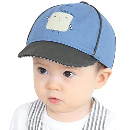 cd38a75e138b6 Image Unavailable. Image not available for. Color  WARMSHOP Cute Infant Kids  Reversible Baseball Sunhat Cotton Soft Toddler ...