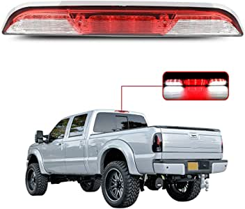 SCITOO Fit for 2015-2017 Ford F-150 High Mount Brake Light Smoke Lens LED Light LED 3rd Brake Light Cargo Light