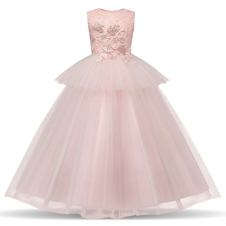 Amazon.com: Vestido largo de noche con flores, vestidos para ...