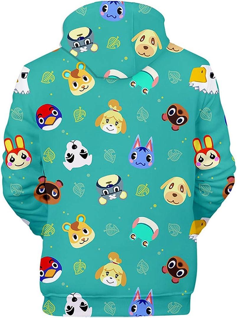 Silver Basic Animal Crossing Hoodie New Horizons New Leaf Shirt Lunga Bambino Felpa con Cappuccio