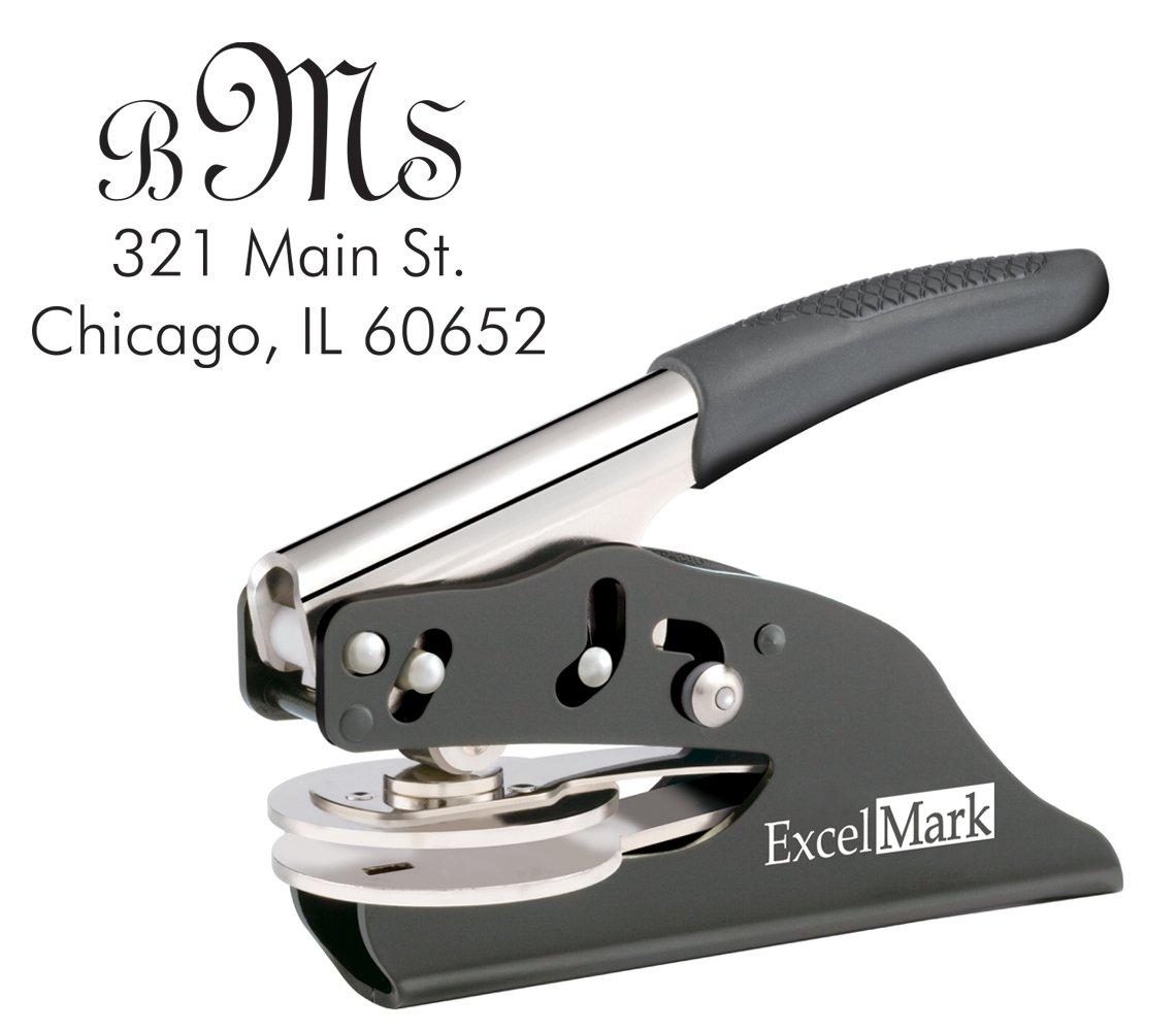 ExcelMark Hand Held Monogram Address Gift Embosser – Style 21