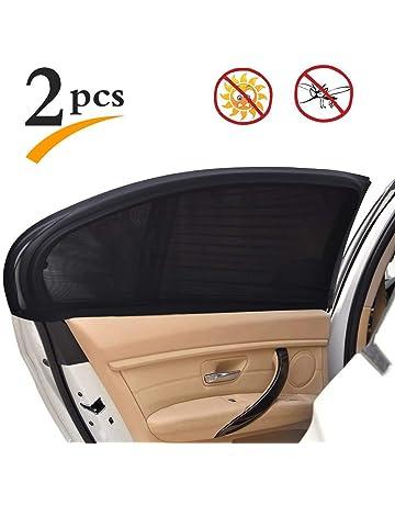 ac3d89643472 Uarter Universal Car Rear Side Window Baby Kid Pet Breathable Sun Shade Mesh  Backseat (2