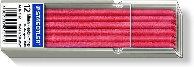 rot Staedtler 218 Lumocolor non-permanent omnichrom Spezialmine 12 St/ück Etui