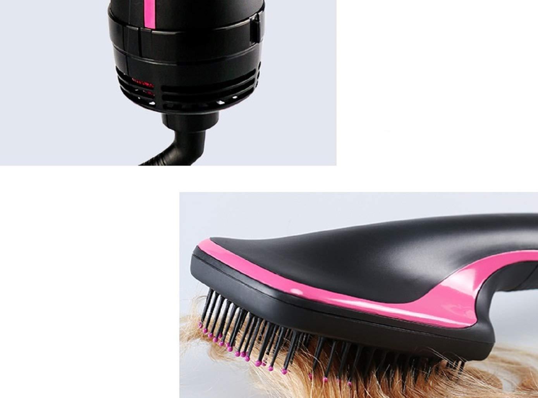 2 en 1 secador de pelo Ion alisador de pelo cepillo secador de pelo anti decoloración pelo alisador de hierro cerámica calefacción peine anti-estático ...