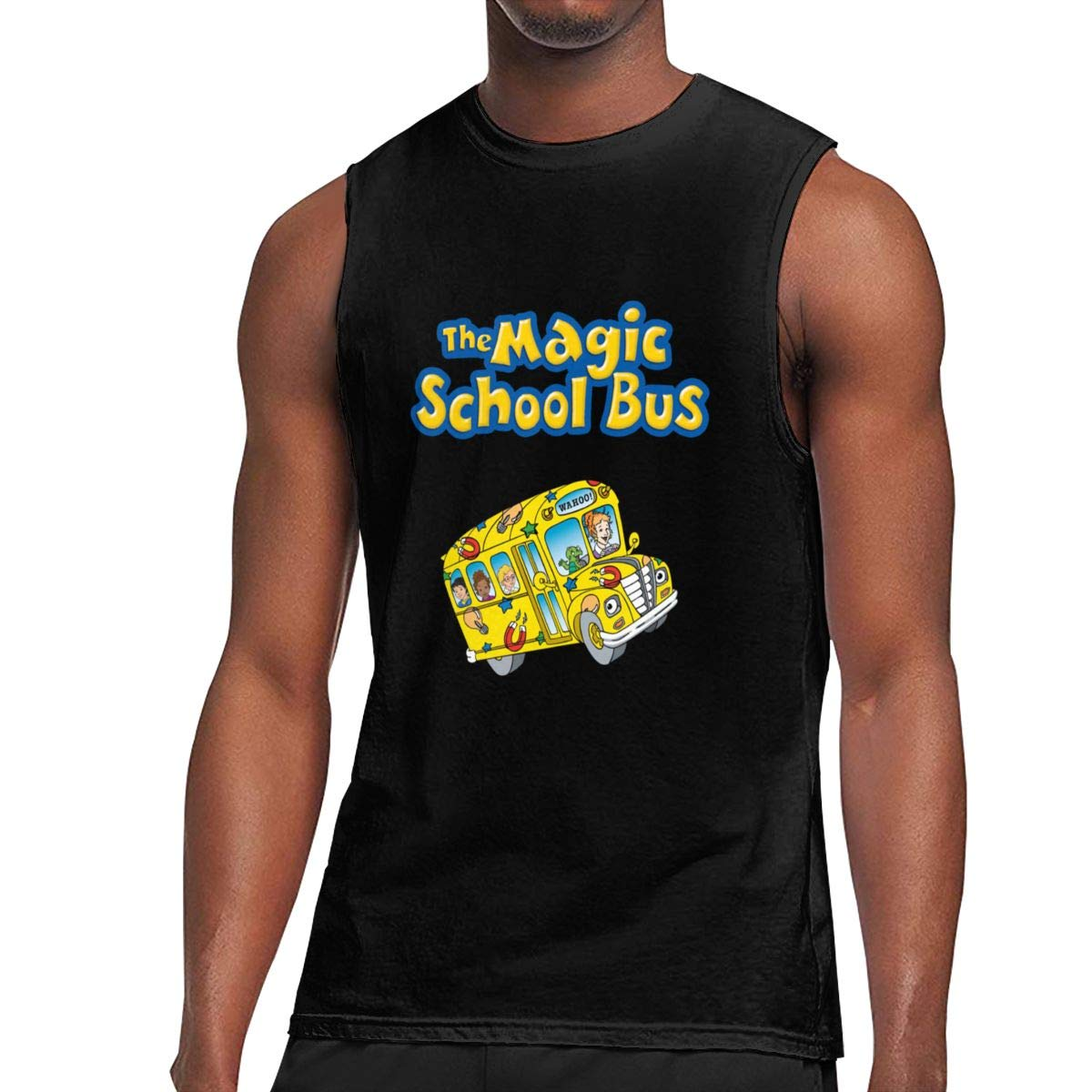 Seuriamin The Magic School Bus S Funny Gym Sleeveless Muscle Short Sleeve Shirt