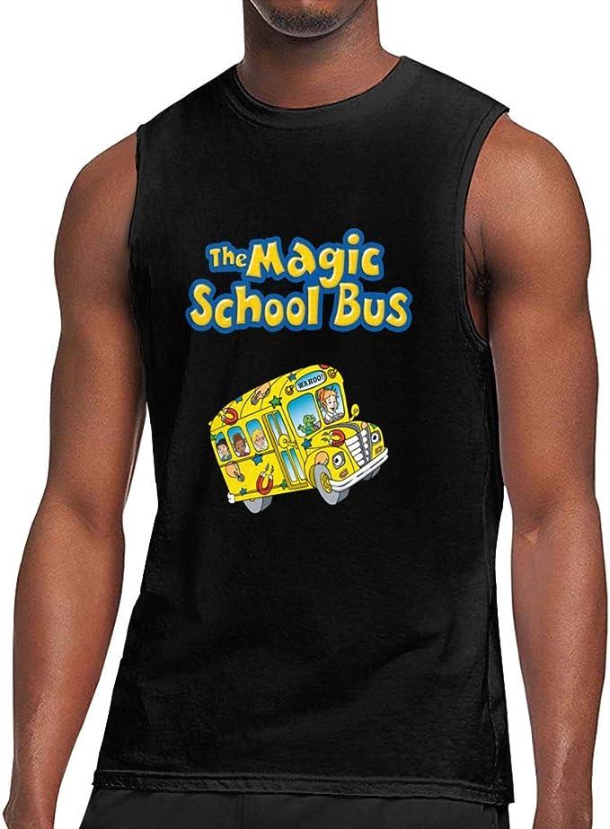 Seuriamin The Magic School Bus Mens Basic Gym Short Sleeve T-Shirt