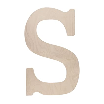 Walnut Hollow Wood Letter 18 By 05 Inch Monogrammed Letter S