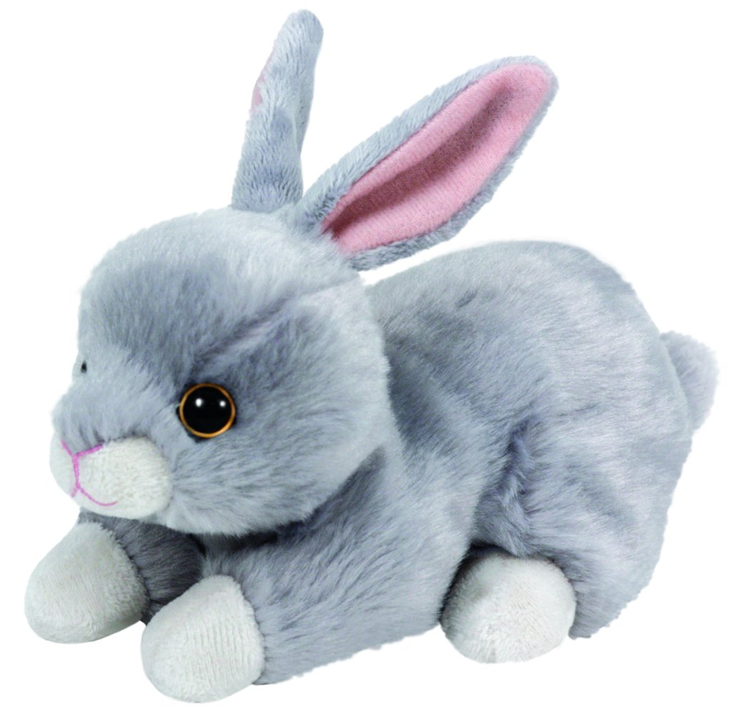 4254b50bed6 Amazon.com  Ty Beanie Babies Nibbler the bunny - 6 inch Gray  Toys   Games