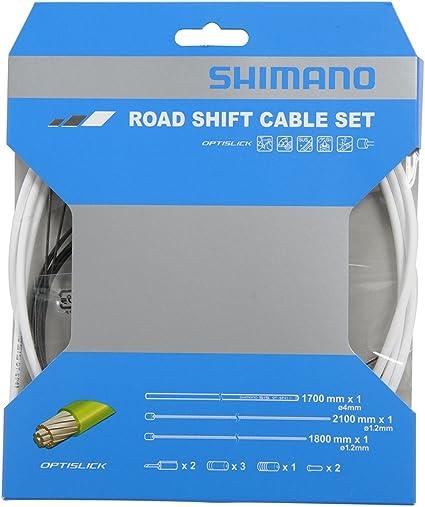 Shimano Road Optislick Derailleur Cable and Housing Set Blue