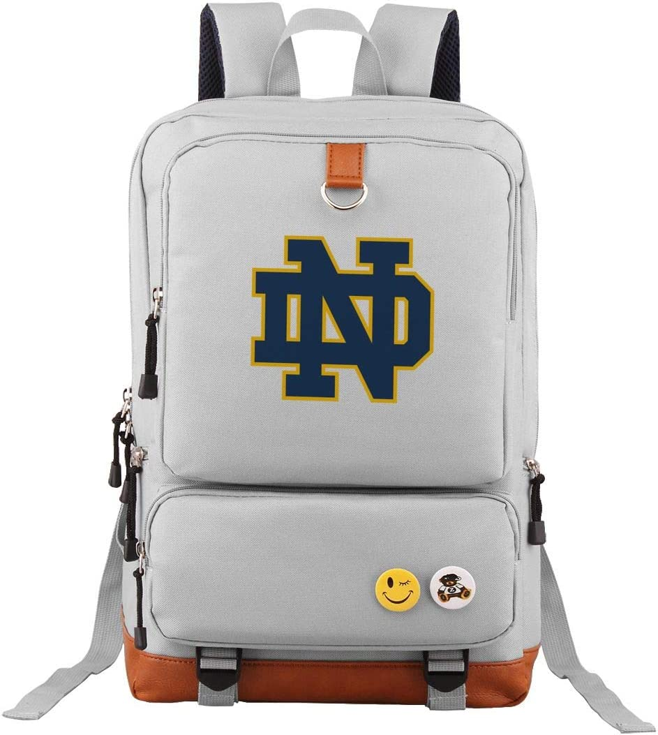Notre_Dame Students Travel Laptop Backpack Business Anti Theft Slim Durable Laptops Travel Computer Bag Gray