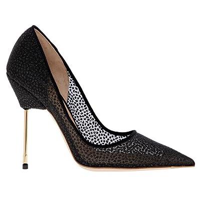 d743e3f4d61de4 Kurt Geiger London Britton Black Mesh Patterned High Heel Court Shoes (UK  4/EU 37): Amazon.co.uk: Shoes & Bags