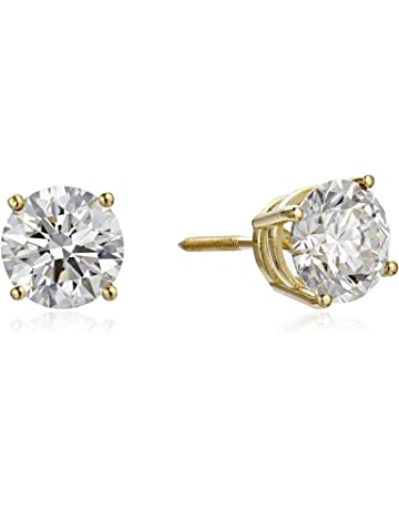 23bdbe547 IGI Certified 18k Gold Lab Created Diamond Stud Earrings (1/2 - 4 cttw