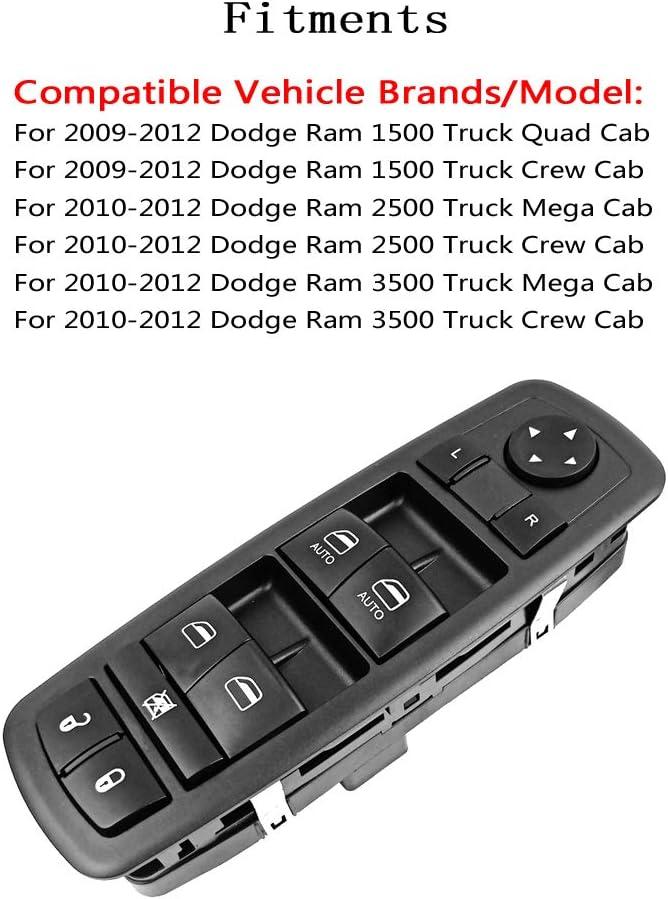 Window Switch Control Lock 04602863AC FitsFor 2009-2012 Dodge Ram 1500 2500 3500