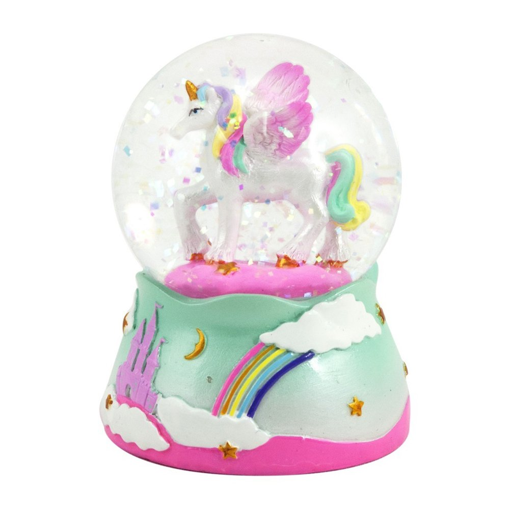Unicorn Snow globe - 65 MM Pink Poppy