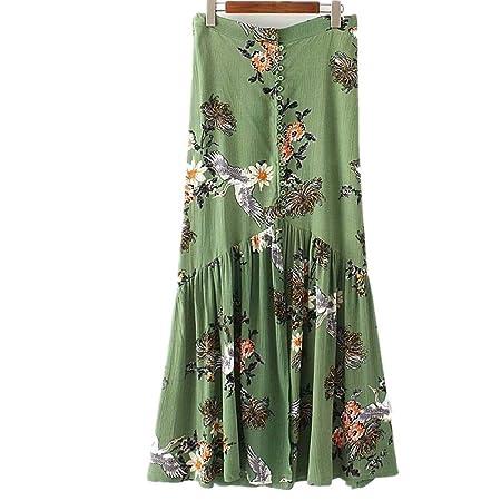 Deawecall Mujeres con Estampado Floral de Cintura Alta sobre la ...