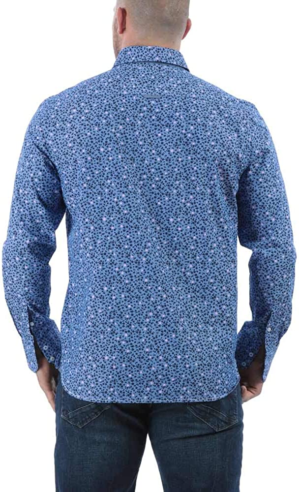 Ruckfield Bleu Chemise Rugby Flower