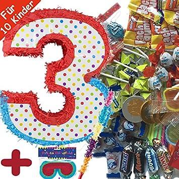 Unbekannt Piñata Juego: * Número 3 * con + Máscara + + 100 ...
