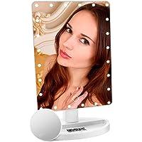 NEWSUMIT Espejo Maquillaje con luz 24 led