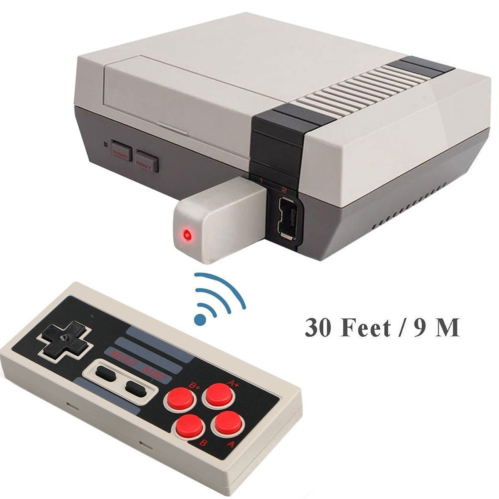 2 Pack NES Classic Wireless Controller, Nintendo Classic Controller Gamepad Joypad for Nintendo NES Classic Edition (NOT for SNES Super Nintendo Classic Edition) by Lxuemlu (Image #2)