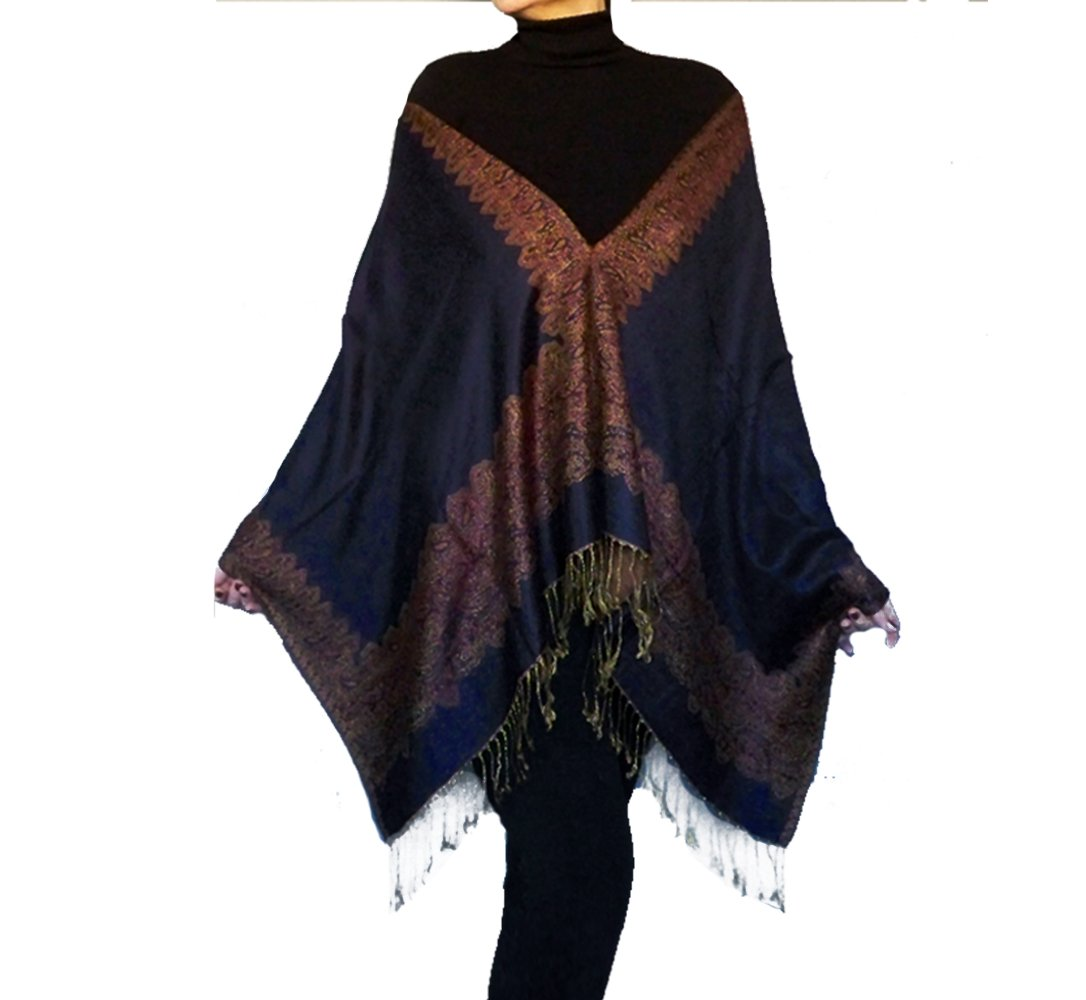 1fab6e916f0 ... Evening Wrap Dark Blue Stole Black Organza Shawl By ZiiCi.  26.00. Plus  Size Navy Pashmina Shawl Wrap Indigo Blue Poncho Bohemian Clothing By ZiiCi