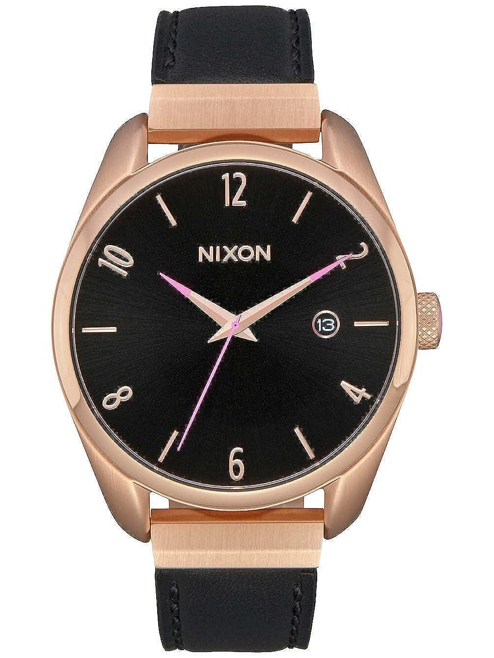Nixon Reloj Analogico para Unisex de Cuarzo con Correa en Cuero A1185-1098-00