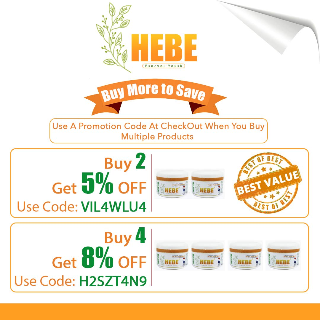 HEBE Plus Nicotinamide Mono Nucleotide (NMN) Powder Supplement 99.8% Pure 15 Grams 120 Servings Anti-Aging | Buy 2, GET 5% Off | Buy 4, GET 8% Off by Hebe Plus