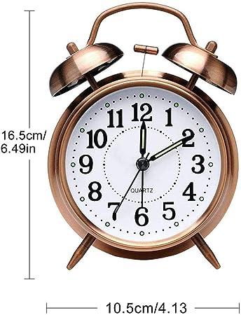 3 zoll  Retro Glockenwecker Aufziehwecker Nostalgie Doppelglocken Wecker Uhr DE