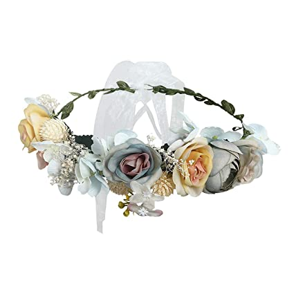 Wedding Baby Flower Headband Elastic Hair Band Princess Wreath Girls Garland