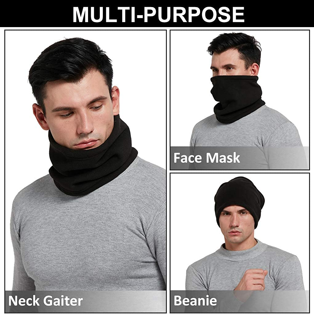Winter Neck Warmer Windproof Thermal Neck Gaiter Tube for Men /& Women Cycling