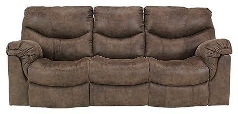 Marvelous Ashley Furniture Signature Design Alzena Recliner Sofa Manual Reclining Gunsmoke Brown Evergreenethics Interior Chair Design Evergreenethicsorg