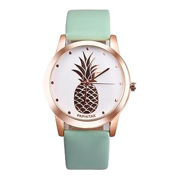 LILICAT Reloj para mujer Faux de piña para hombre (Verde): Amazon.es: Deportes y aire libre