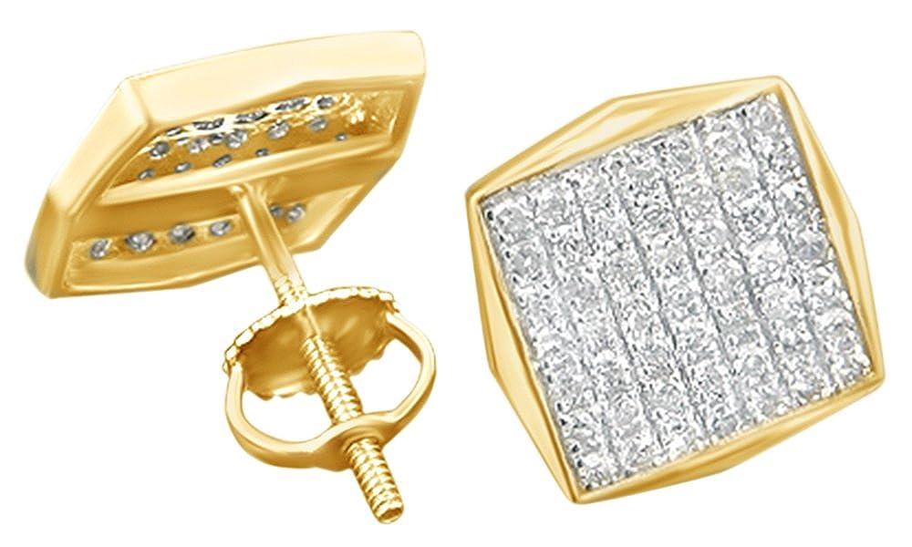 Runder Schnitt, Weiß mit Diamanten-Ohrringe in 14 kt 585, Weißgold