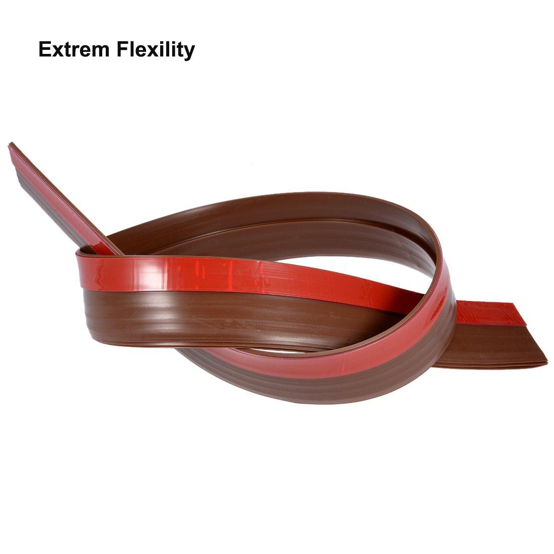 DOOR BOTTOM 1-3//4 in x 36 in Vinyl U Shaped Gap Seal Sweep Weather Protection