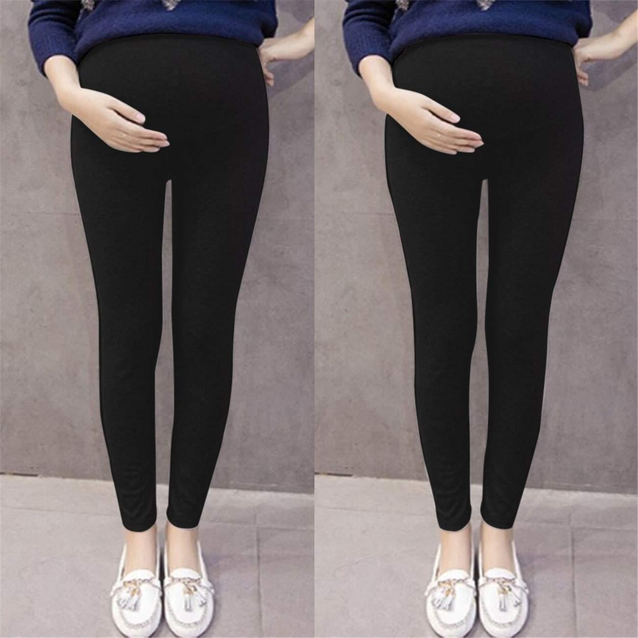 Premam/á Invierno Leggins Abrigos Pantalones De Mujer Embarazada Color S/óLido Y Pantalones De Embarazo De Maternidad Delgada