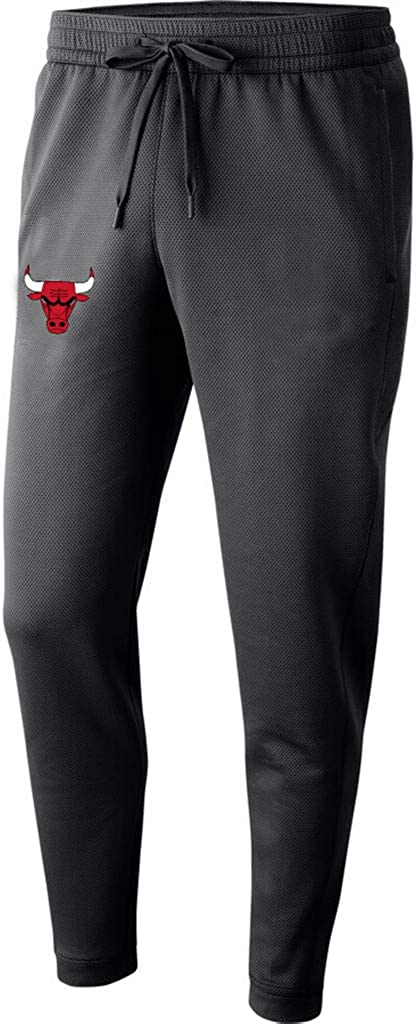 JNTM Mens Pantal/ón NBA Chicago Bulls De Atletismo Entrenamiento Pantalones Casual Suelta Y C/ómoda del Equipo Escudo Pantalones hasta Los Tobillos Atados para Los J/óvenes