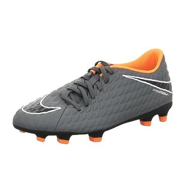 Nike Hypervenom Phantom III Club FG, Chaussures de Football Homme, Gris (Dark Grey/Total Orange 081), 47.5 EU