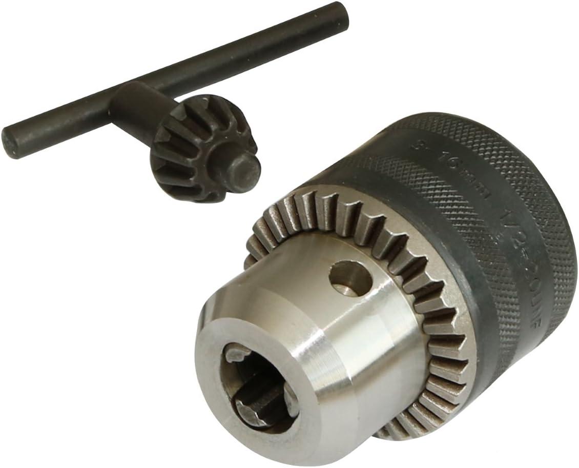 Portabrocas de 3-16 mm con llave de mandril mini para taladro el/éctrico B16 // B18 // 1//2-20UNF para tornos y prensas de taladro B16 3-16MM