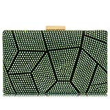Women Clutches Crystal Evening Bags Clutch Purse Party Wedding Handbags (AB Green)