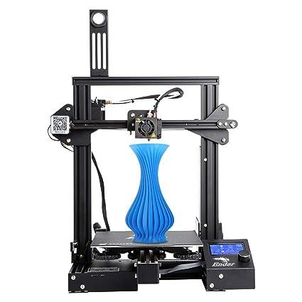 Comgrow Creality 3D Ender-3 Pro DIY Impresora 3D con Etiqueta Magnética de Cama Caliente y Dispositivo de Fuente de Alimentación con Certificación UL