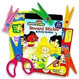 Crenstone Safety Scissors Set for Toddlers & Preschoolers -- Craft Scissors with 5 Interchangable Patterns (Craft Set)