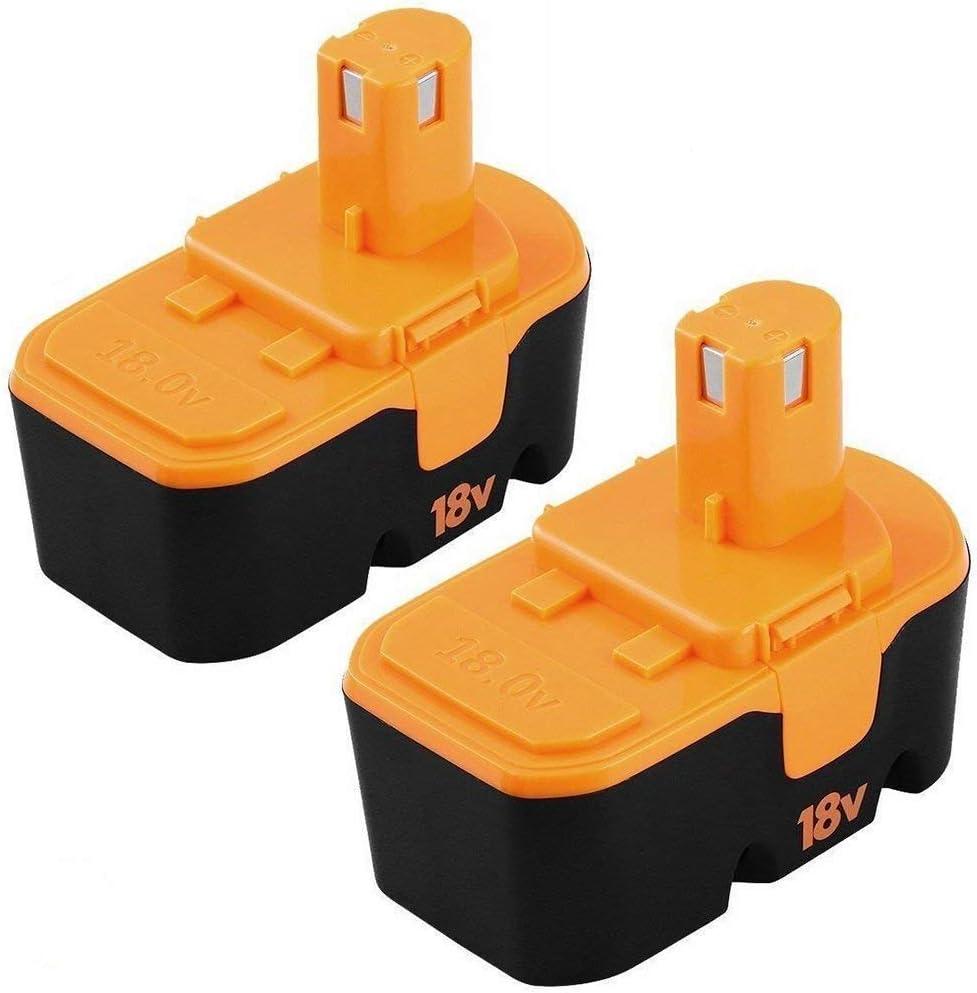 [Upgraded] 3600Mah Ni-Mh Replacement für Ryobi 18V Battery One+ P100 P101 Abp1801 Abp1803 Bpp1820 2 Packs